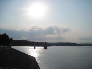 狭山湖の取水塔