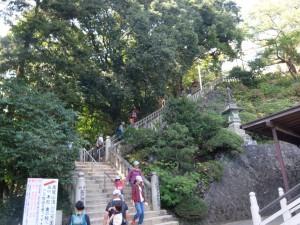 本堂横の階段